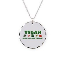 Vegans Care About Planet Necklace