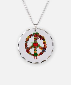 Veggie Peace Sign Necklace