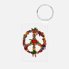 Veggie Peace Sign Keychains