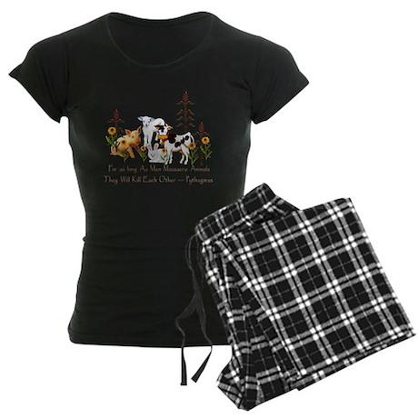 Pythagoras Vegetarian Quote Women's Dark Pajamas