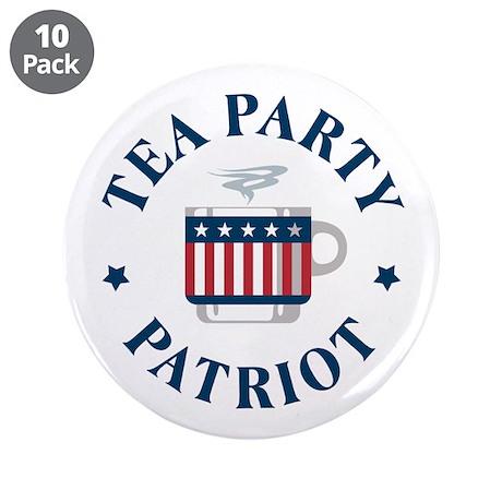 """Tea Party Patriot 3.5"""" Button (10 pack)"""
