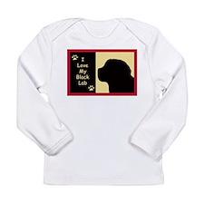I Love My Black Lab Long Sleeve Infant T-Shirt