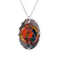 Kokopeli JOY Necklace Oval Charm