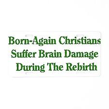 Born-Again Brain Damage Aluminum License Plate