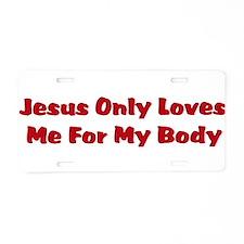 Anti-Religion Jesus Shirt Aluminum License Plate