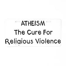 Atheism Aluminum License Plate