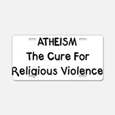 Atheism Aluminum License Plate
