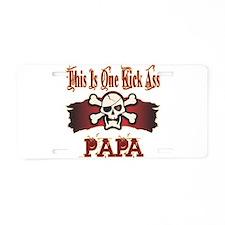 Kickass Papa Aluminum License Plate