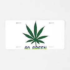 Go Marijuana Green Aluminum License Plate