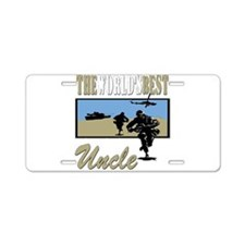 Military Uncle Aluminum License Plate
