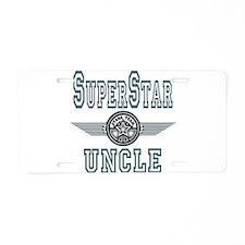 Superstar Uncle Aluminum License Plate