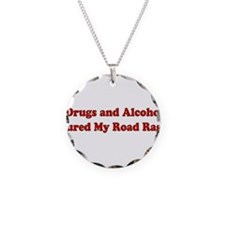 Drugs and Alcohol Necklace Circle Charm