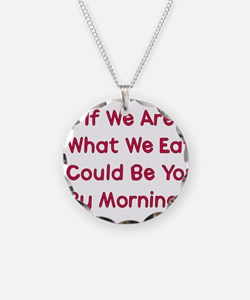 Eat You Necklace Circle Charm