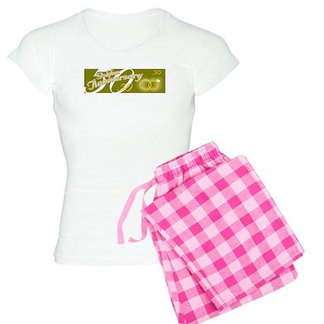 50th Wedding Anniversary Women's Light Pajamas
