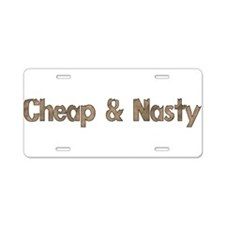Cheap and Nasty Aluminum License Plate