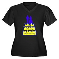 10th Wedding Anniversary Women's Plus Size V-Neck