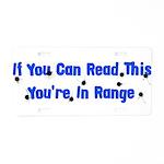 In Range Aluminum License Plate