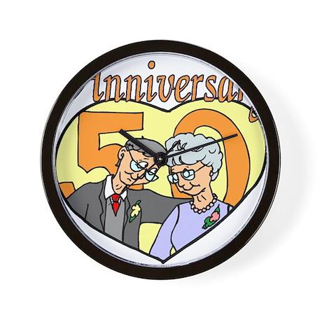 50th Wedding Anniversary Wall Clock