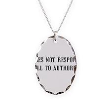 Anti-Authority Necklace