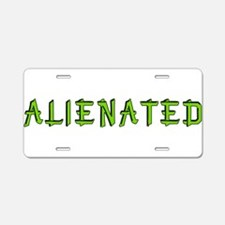 Alienated Aluminum License Plate