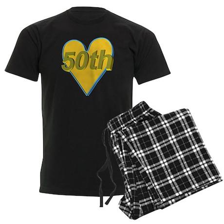 50th Wedding Anniversary Men's Dark Pajamas