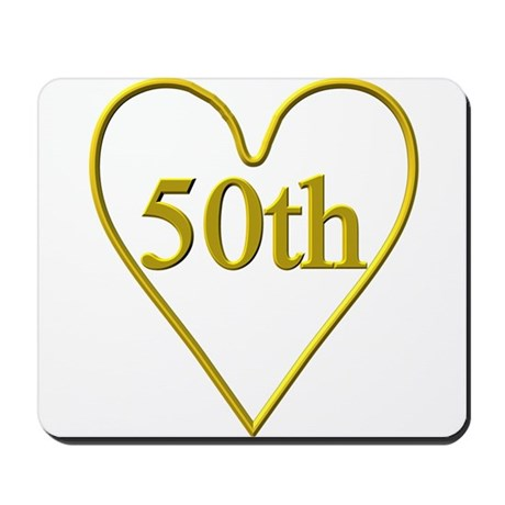 50th Wedding Anniversary Mousepad