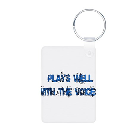Plays With Voices Aluminum Photo Keychain