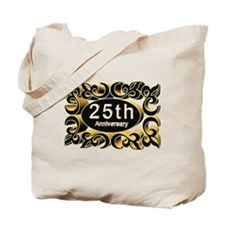 25th Wedding Anniversary Tote Bag