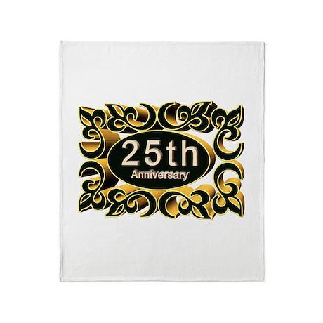 25th Wedding Anniversary Throw Blanket