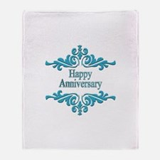 Wedding Anniversary Throw Blanket