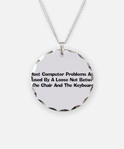 Loose Nut At Keyboard Necklace