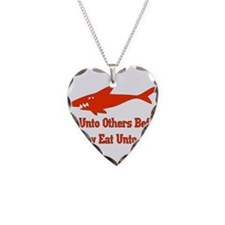 Golden Shark Rule Necklace Heart Charm