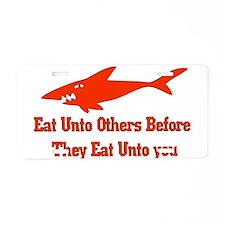 Golden Shark Rule Aluminum License Plate