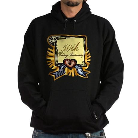 50th Wedding Anniversary Hoodie (dark)