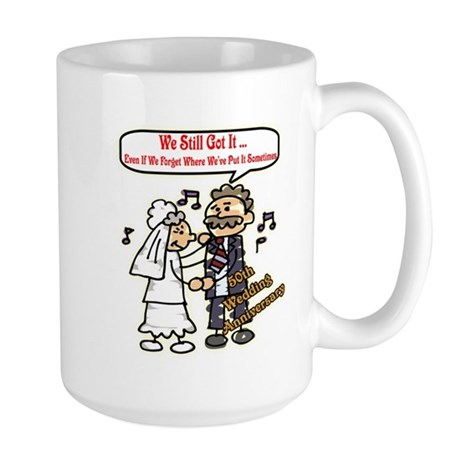 50th Wedding Anniversary Large Mug
