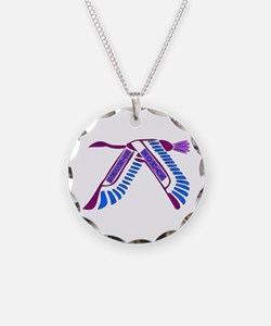 Strong Woman Flying Necklace