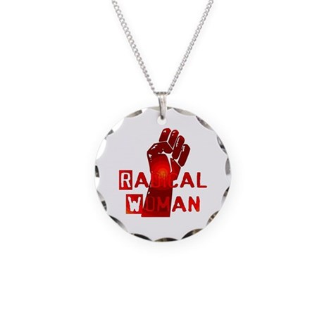 Radical Woman Necklace Circle Charm