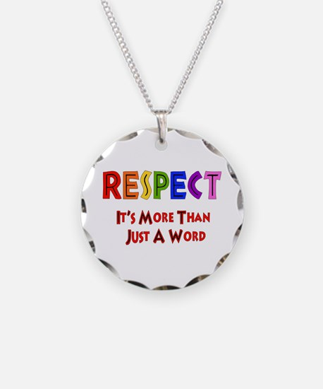 Rainbow Respect Saying Necklace