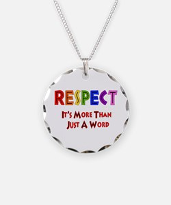 Rainbow Respect Saying Necklace Circle Charm