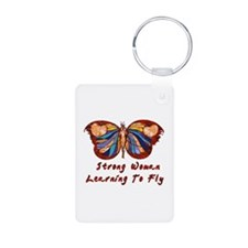 Strong Woman Learning To Fly Keychains