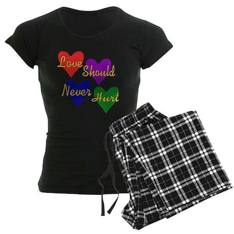 End Domestic Violence Women's Dark Pajamas