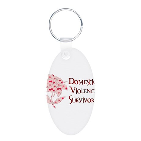 Domestic Abuse Survivor Aluminum Oval Keychain