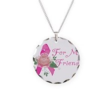 Breast Cancer Support Friend Necklace