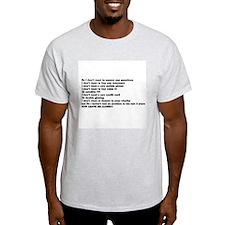 I don't want to buy.. Ash Grey T-Shirt