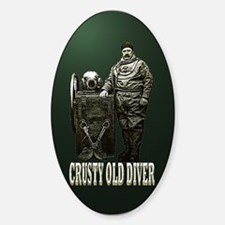 Crusty Old Diver Pumped Decal