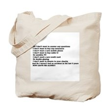 I don't want to buy.. Tote Bag