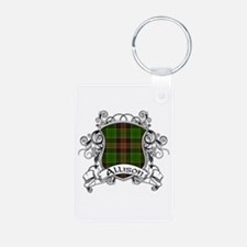 Allison Tartan Shield Aluminum Photo Keychain