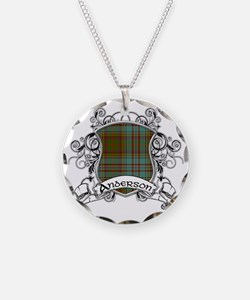 Anderson Tartan Shield Necklace Circle Charm