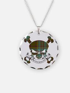 Anderson Tartan Skull Necklace