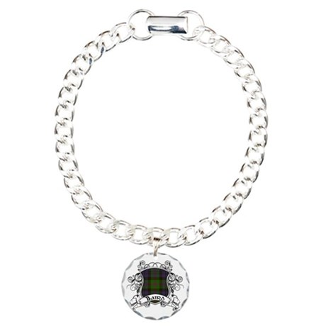 Baird Tartan Shield Charm Bracelet, One Charm